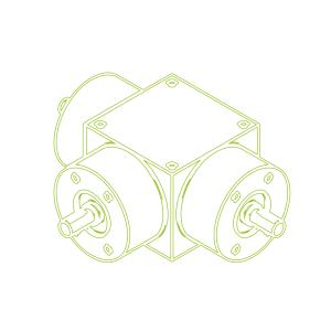 Bevel Gearboxes | KSZ-H-10-T | Drive ratio 2:1