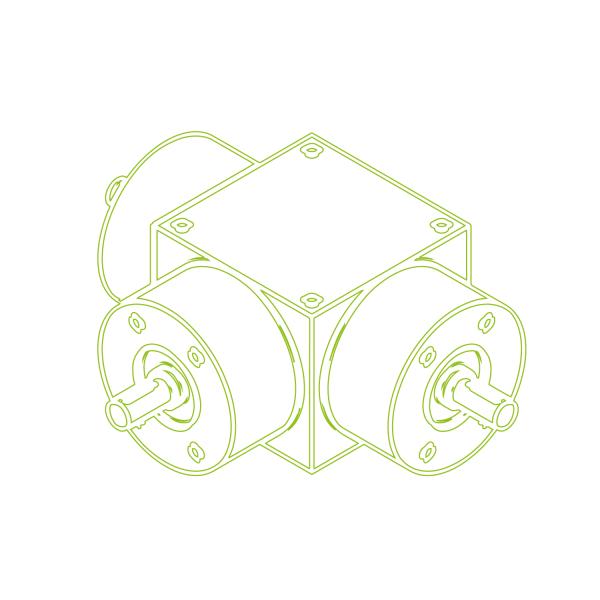 Bevel Gearboxes | KSZ-H-100-T | Drive ratio 1:1