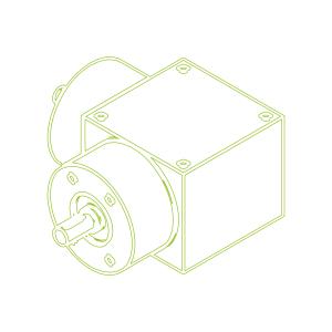 Bevel Gearboxes   KSZ-H-35-L   Drive ratio 2:1