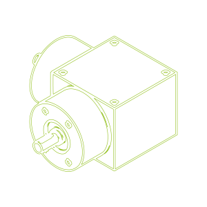 KSZ-H-5-L-Drive ratio 3:1-Bevel Gearboxes