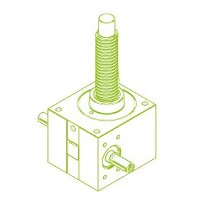 R-Trapezoidal screw 100 kN | 55x9