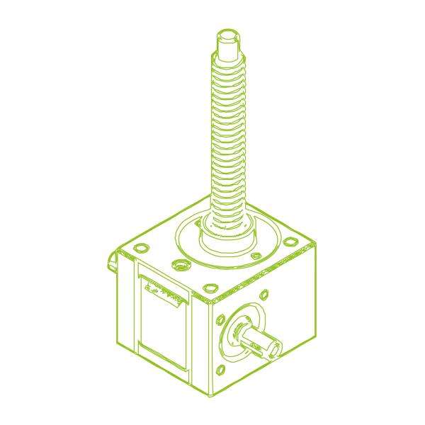 R-Trapezoidal screw 5 kN   18x4