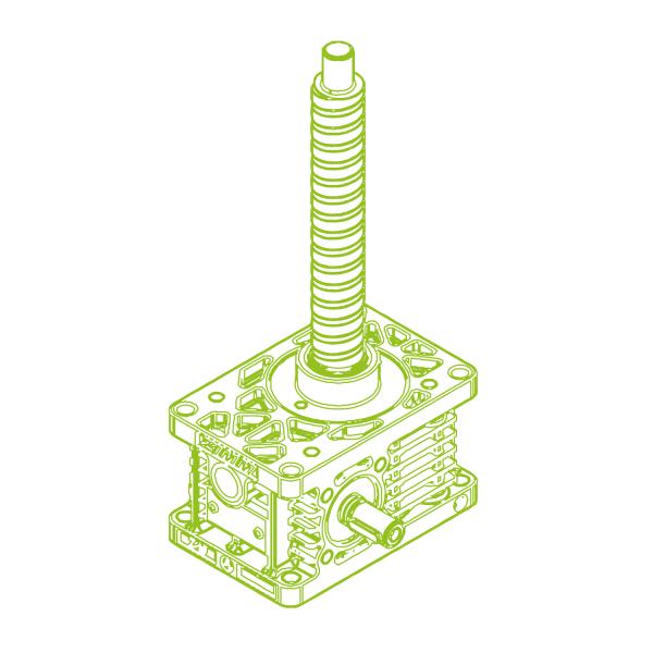 R-Ball screw 10kN | 25x50