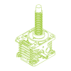 R-Trapezoidal screw 100kN   55x9