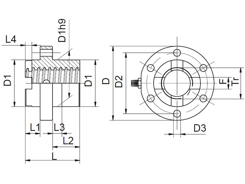 Cardan adapter DM