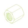 Hexagonal steel nut SKM