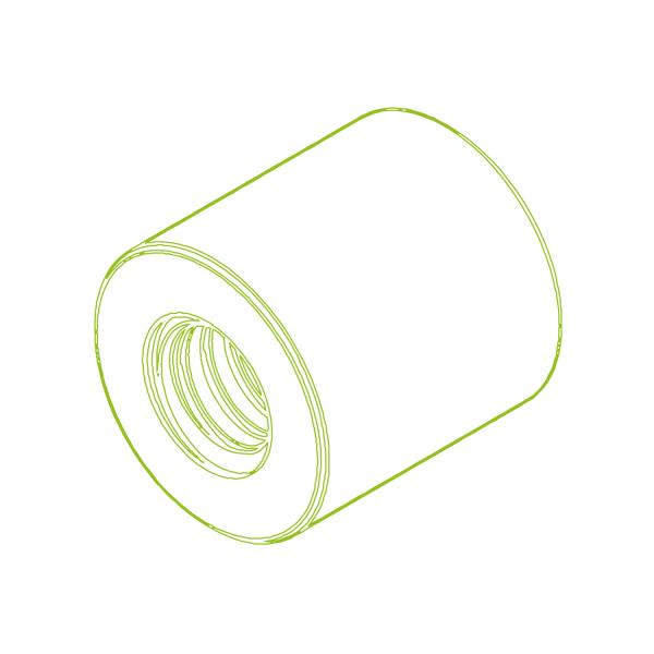 Long plastic nut LKM