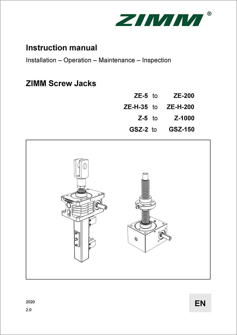 Instruction manual 2.0 | Screw jack systems | English